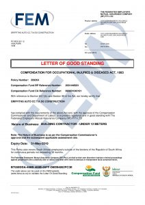 FEM Letter of Good Standing 30 May 2019pic